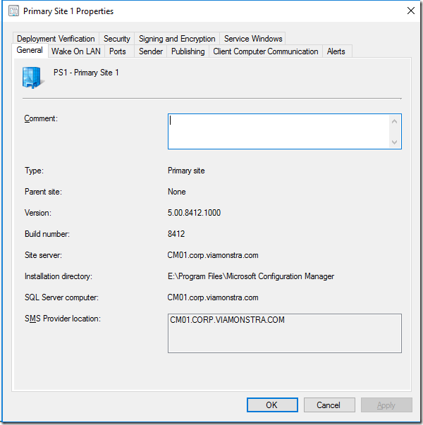 Moving the ConfigMgr Current Branch database to another