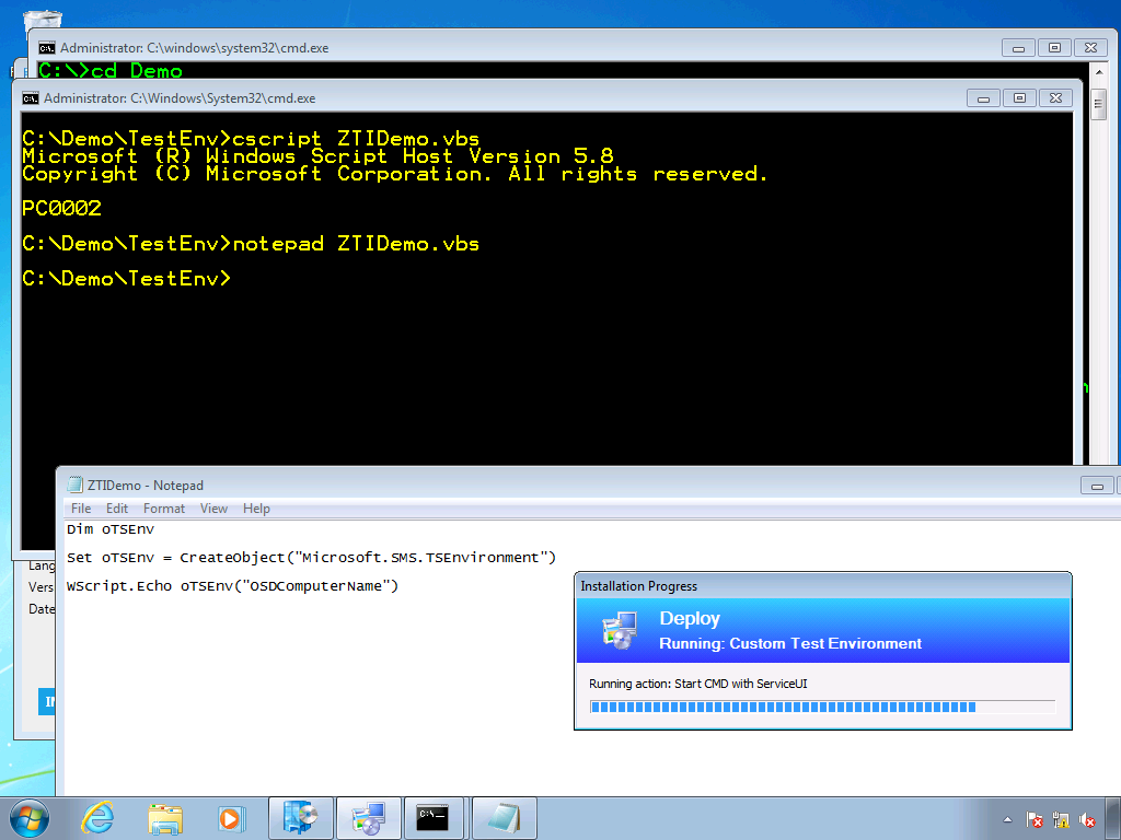 Troubleshooting CM2012 Task Sequence Actions Using ServiceUI