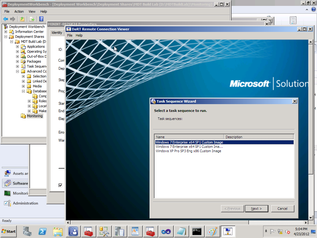 MMS 2012 – Using MDT 2012 Remote Monitoring with SCCM 2007