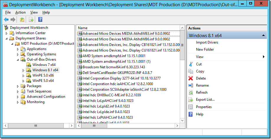 MDT 2013 Lite Touch Driver Management - Deployment Research