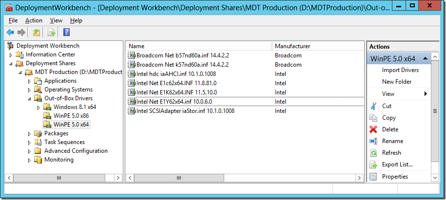 MDT 2013 Lite Touch Driver Management – Deployment Research
