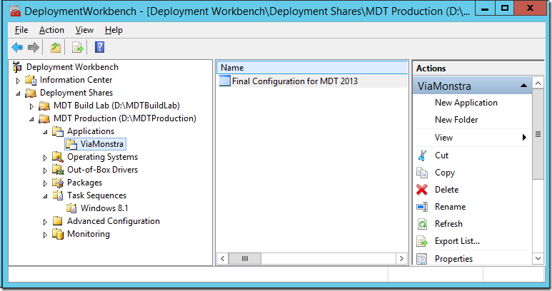 Final Configuration for MDT 2013 Lite Touch, now with