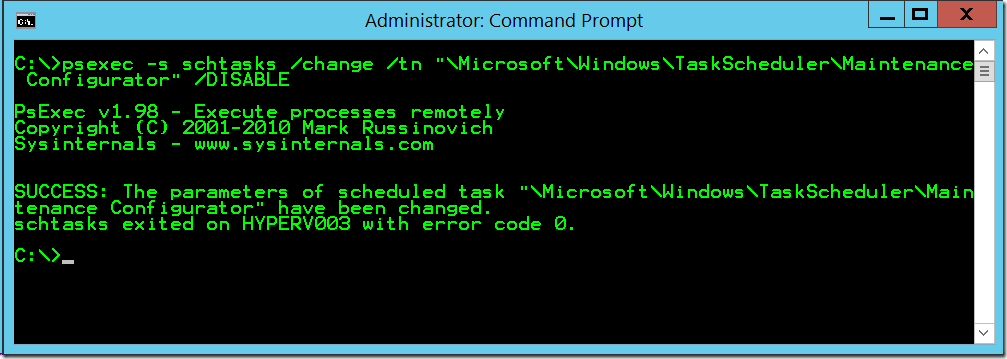 Automatic Maintenance in Windows Server 2012 R2 is EVIL