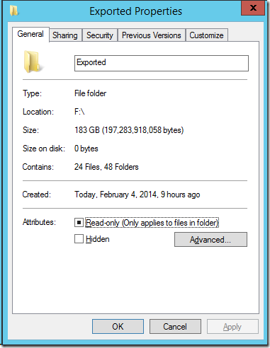 Beyond Zip – How to store 183 GB of VMs in a 16 GB file