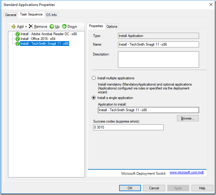 Using Nested Task Sequences in MDT 8456 Lite Touch