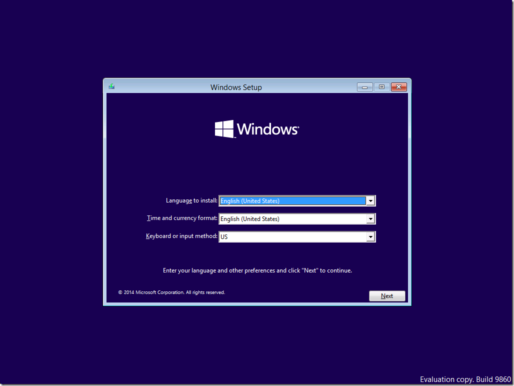 How to create a Windows 10 Enterprise build 9860 ISO