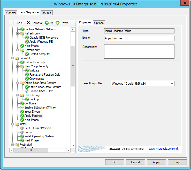 Create a Windows 10 reference image using MDT 2013