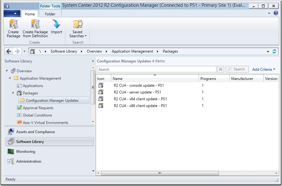 Installing ConfigMgr 2012 R2 CU4 Unattended – Deployment