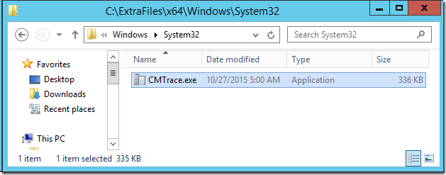Adding CMTrace to your MDT Lite Touch boot images