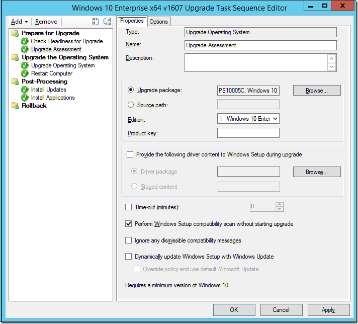 Improving the ConfigMgr Inplace-Upgrade Task Sequence