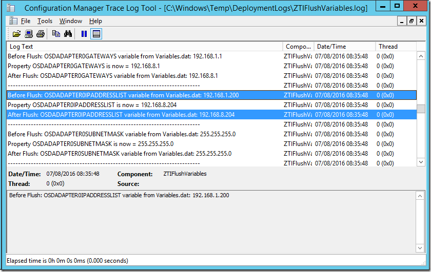 Quick Fix – MDT Environment Variables set in PowerShell are