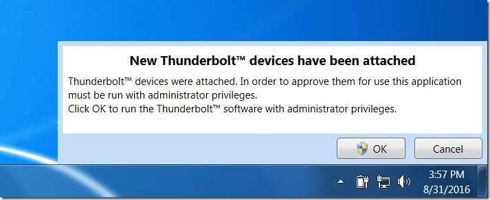 Allowing normal users to connect to a new Thunderbolt