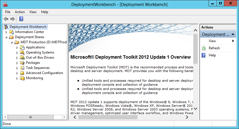 Going Production – Deploy Windows 8 using MDT 2012 Update 1